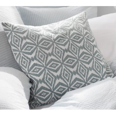 Kaleidoscope Embroidered Pillow Cover Color: Agave