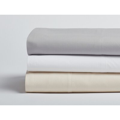 Percale 300 Thread Count 100% Cotton Sheet Set Size: King, Color: Pewter