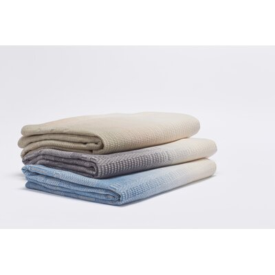 Strata Cotton Blanket Size: Twin, Color: Sand