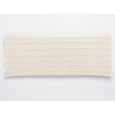 Braided Rope 100% Cotton Pillow Cover Color: Natural