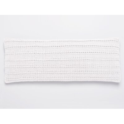 Braided Rope 100% Cotton Pillow Cover Color: Alpine White