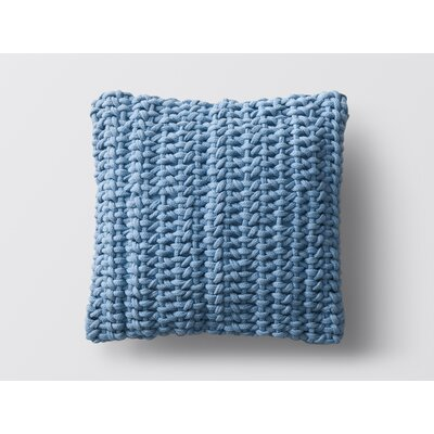 Handwoven Rope Dec 100% Cotton Throw Pillow Color: Blue Jay
