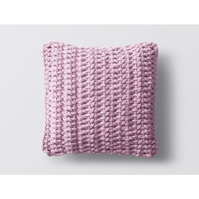 Handwoven Rope Dec 100% Cotton Throw Pillow Color: Lilac