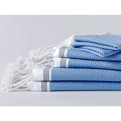 Mediterranean Bath Towel Color: Azure/Mid Ocean