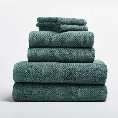 Air Weight 6 Piece Towel Set Color: French Blue