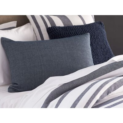 Mediterranean Organic Cotton Duvet Cover Size: Full / Queen, Color: Pewter