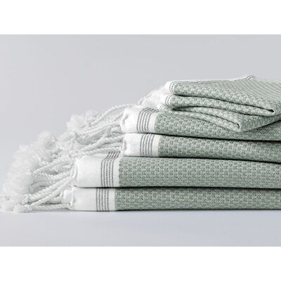 Mediterranean Bath Towel Color: Eucalyptus/Deep Pewter