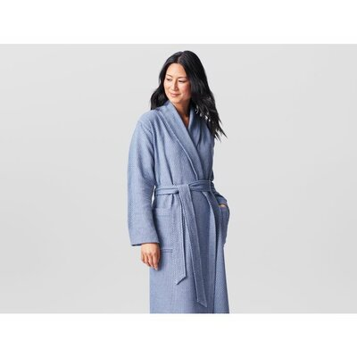 Mediterranean Unisex Bathrobe Size: Small/Medium, Color: Dark Pewter