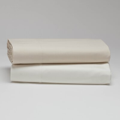 Percale Flat 300 Thread Count 100% Cotton Sheet Color: Alpine White, Size: King