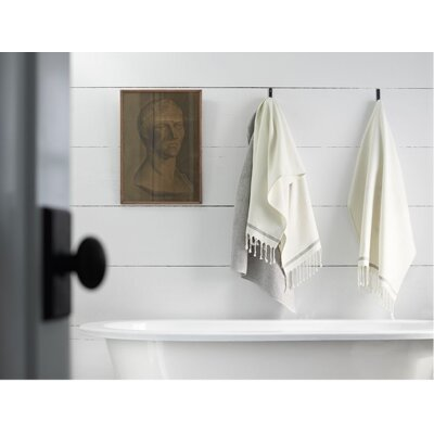 Mediterranean Bath Towel Color: Alpine White/Slate