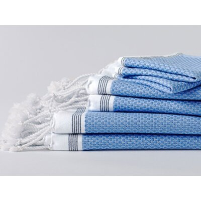 Mediterranean Bath Sheet Color: Azure/Mid Ocean