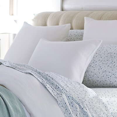 Mediterranean Organic Cotton Duvet Cover Size: Full / Queen, Color: Alpine White