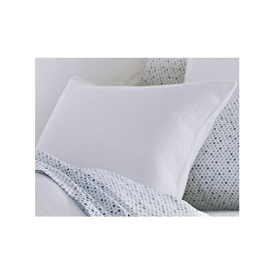Mediterranean Organic Cotton Sham Size: King, Color: Alpine White