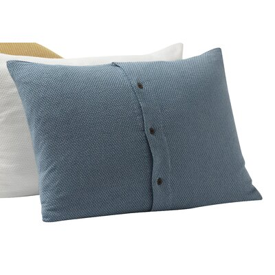 Mediterranean Organic Cotton Sham Size: King, Color: Pewter