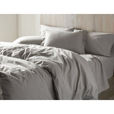 Cloud Brushed Flannel Duvet Cover Size: King