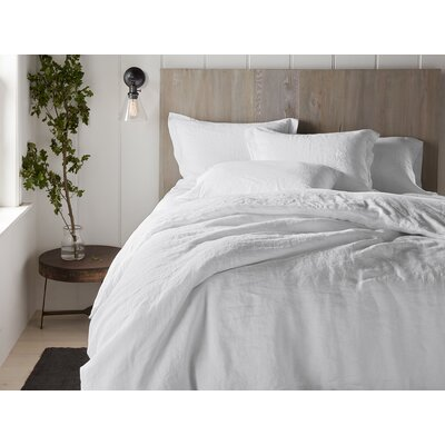 Organic Relaxed Linen Sham Color: Alpine White, Size: Euro