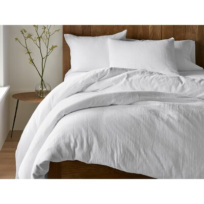 Monterey Duvet Cover Color: Alpine White, Size: Full/Queen