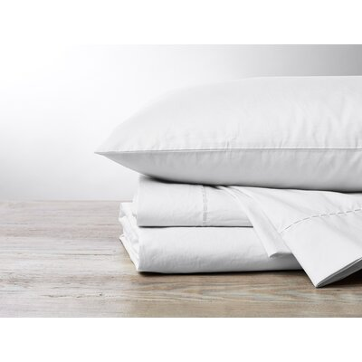 Organic 500TC Percale Sheet Set Color: Alpine White, Size: Queen