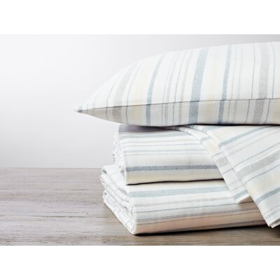 Cloud Brushed Flannel 4 Piece Pillowcase Set Size: Euro