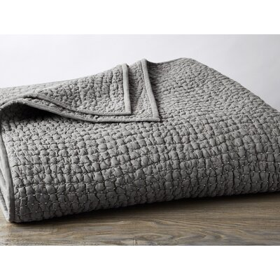 Pebbled Hand-Stitched Quilt Color: Slate, Size: King