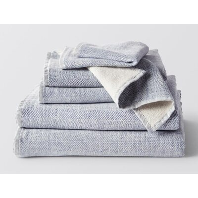 Catalina 6 Piece Wash Cloth Set Color: Lake Heather