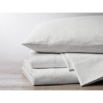 Cloud Brushed Flannel 4 Piece Pillowcase Set Color: Gray