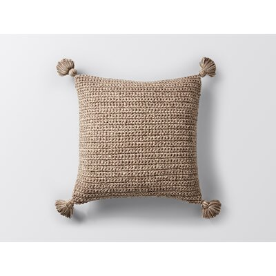 Woven Tassel Decorative Pillow Cover Color: Shiitake
