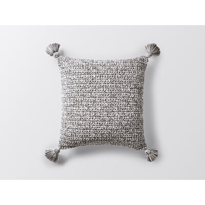 Woven Tassel Decorative Pillow Cover Color: Gray