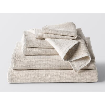 Catalina 6 Piece Towel Set Color: Oatmeal Heather