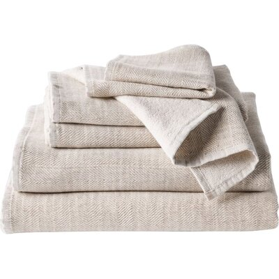 Catalina 6 Piece Wash Cloth Set Color: Oatmeal Heather
