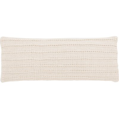 Braided Rope Cotton Pillow Cover Color: Natural