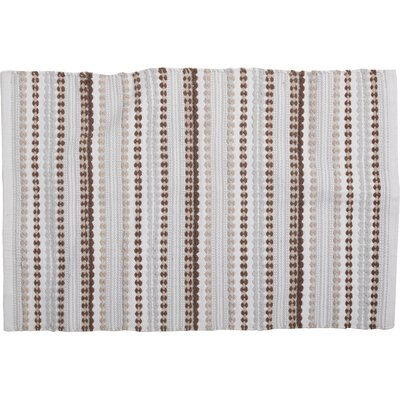 Palm Canyon Bath Rug Color: Brown/Blue