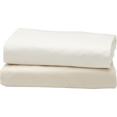 Percale Fitted 300 Thread Count 100% Cotton Sheet Size: Queen, Color: Alpine White
