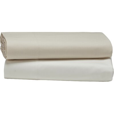 Percale Flat 300 Thread Count 100% Cotton Sheet Set Size: Full/Queen, Color: Alpine White