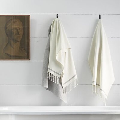 Mediterranean Washcloth Color: Alpine White/Slate