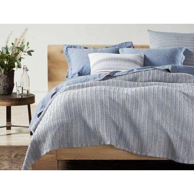 Lost Coast Organic Decorative Cotton Pillow Cover Color: Marine