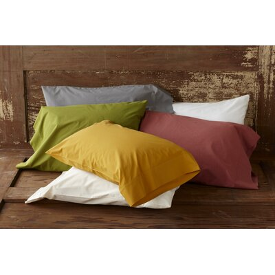 Percale 220 Thread Count Pillowcase (Set of 2) Size: King, Color: Natural