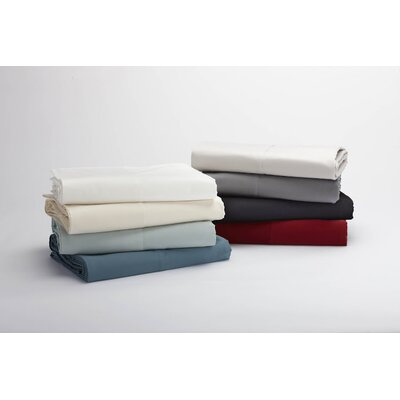 Sateen 300 Thread Count 100% Cotton Flat Sheet Color: Natural, Size: Twin