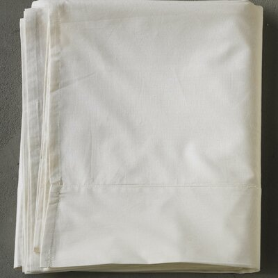 Percale 220 Thread Count 100% Cotton Sheet Set Size: King, Color: Natural