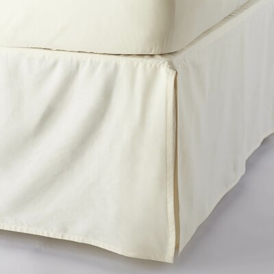 Sateen 300 Thread Count Cotton Bed Skirt Size: Queen, Color: Natural