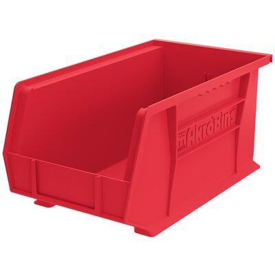 "Plastic Bin (Set of 12) Size: 7"" H x 8.13"" W x 14.75"" D, Color: Red REBR2351 39556535"