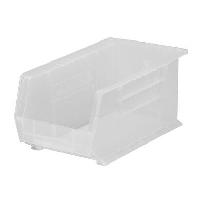"Plastic Bin (Set of 12) Size: 7"" H x 8.13"" W x 14.75"" D, Color: Clear REBR2351 39556536"