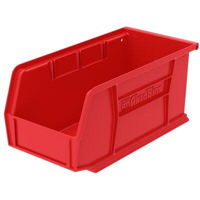 "Plastic Bin (Set of 12) Size: 5"" H x 5.5"" W x 10.88"" D, Color: Red REBR2351 39556511"