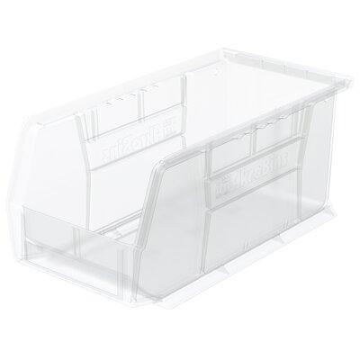 "Plastic Bin (Set of 12) Size: 5"" H x 5.5"" W x 10.88"" D, Color: Clear REBR2351 39556512"