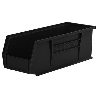"Plastic Bin (Set of 12) Size: 5"" H x 5.5"" W x 14.75"" D, Color: Black REBR2351 39556515"