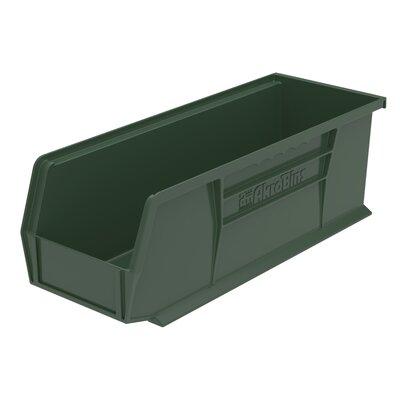 "Plastic Bin (Set of 12) Size: 5"" H x 5.5"" W x 14.75"" D, Color: Hunter Green REBR2351 39556520"