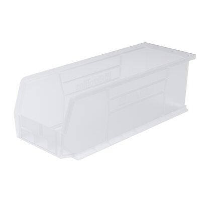 "Plastic Bin (Set of 12) Size: 5"" H x 5.5"" W x 14.75"" D, Color: Clear REBR2351 39556524"