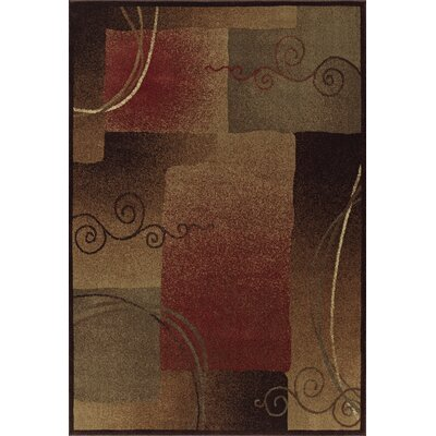 Capri Rust / Grey Area Rug Rug Size: Rectangle 53 x 77