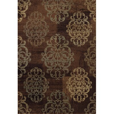 Arends Earth Brown / Tan Area Rug Rug Size: 53 x 77