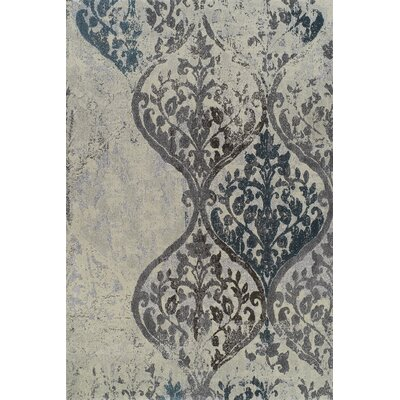Grand Tour White Plant Area Rug Rug Size: 9'6